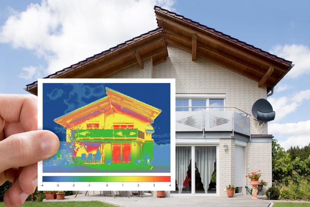 Wärmebild eines Einfamilienhauses